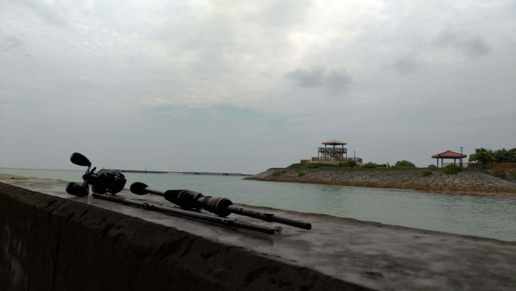 沖縄南部で釣り 準備