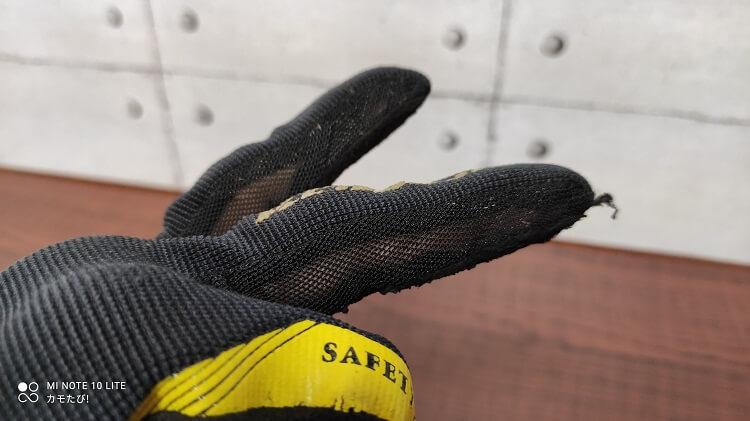3Dプロテクトメッシュグローブ 指の側面